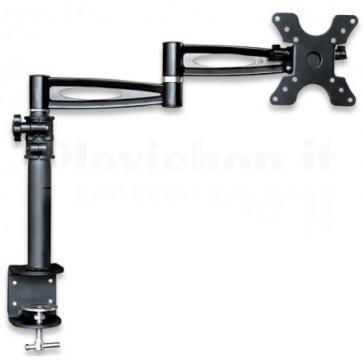 Supporto da scrivania per Monitor 13-27'' braccio lungo inclinabile