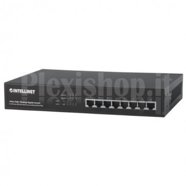 Switch 8 Porte Gigabit Desktop PoE+ Nero