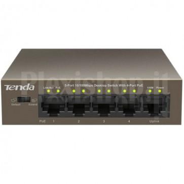 Switch Desktop 5 Porte 10/100 con 4 Porte PoE TEF1105P