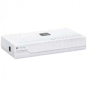 Switch Hub 10/100 Mbps Fast Ethernet 8 Porte