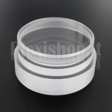 Tappo in plexiglass o-ring Ø 70(e)/64(i) mm