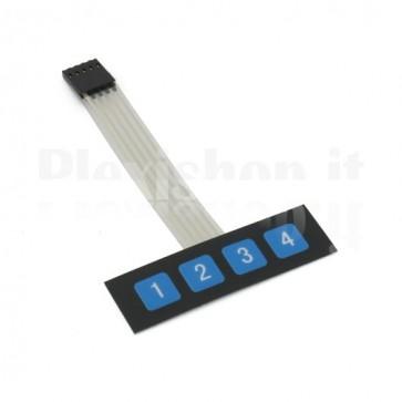 Tastiera a membrana 4 pulsanti