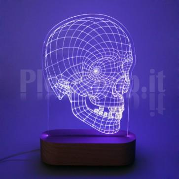 Lampada 3D Teschio RGB