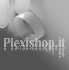 Ritaglio di Tubo plexiglass sat  Ø 200(e)/194(i) mm - L 800 mm