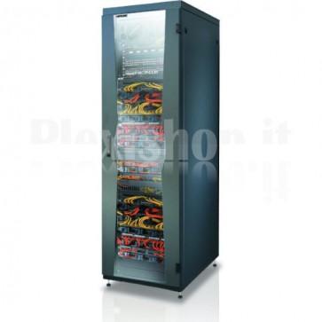 """Armadio NetRack 19"""" 600x800 24 Unità Nero da Assemblare"""