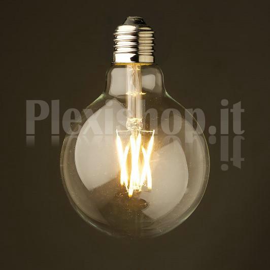 edison lampadina : ... Lampadina Edison filamento LED 3.5W - Mini Globo 80mm - Lampadina a