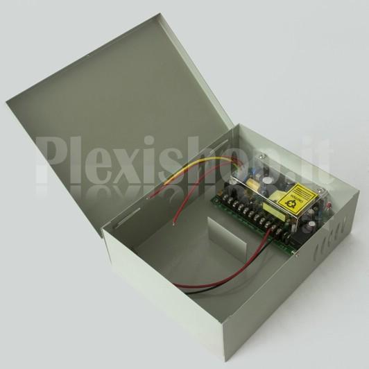 plexishop.it - alimentatore centralina con uscita batteria tampone