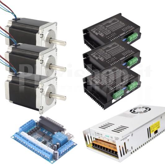 KIT elettronica pantografo CNC con scheda elettronica 3 assi e 2 motori 1,8 Nm M