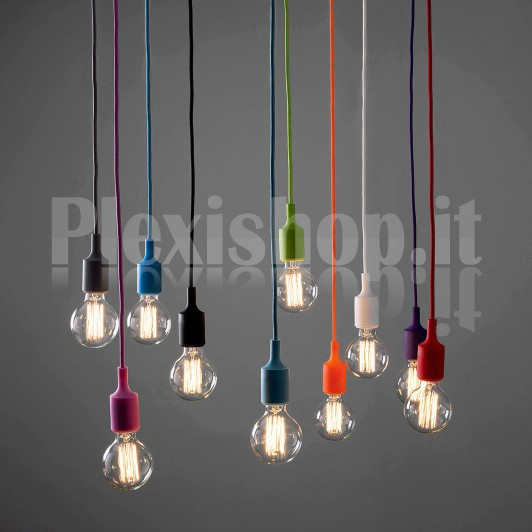 Plexishop.it - Lampadario portalampada E27 in silicone ...