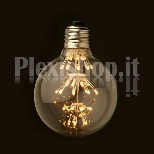 Plexishop it   Lampadina Edison a Led   Lampadina a led mini globo   Lampadina a led stile Vintage -> Lampadine Globo Led Trasparente