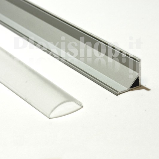 Profili in alluminio ad angolo per strisce led supporto per strisce led - Profili in plastica per piastrelle ...