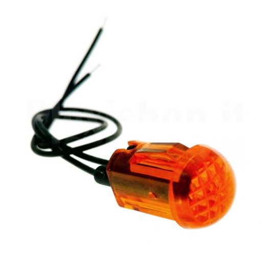 10 x DIODI cablate LED staffa di plastica arancione Wired lente chiara 9v 5mm