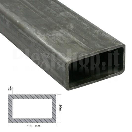 1 lunghezza di 2 m Tubo a sezione quadrata e rettangolare in alluminio 12 mm x 8 mm x 1 mm x 2000 mm