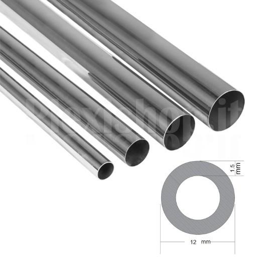 più recente disponibile design professionale Plexishop.it - Tubo Tondo in Acciaio Inox 12x1,5 mm - Tubo ...