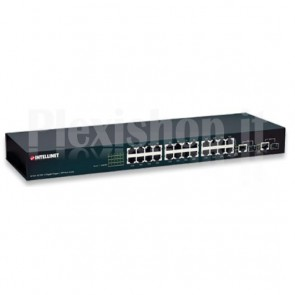 Switch 24 Porte 10/100 + 2 Porte Gigabit Rame/SFP
