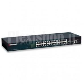 Switch 24 Porte 10/100 + 2 Porte Gigabit Rame/SFP