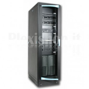 "Armadio Server Rack 19"" 600x1000 27 Unita' Nero serie Lite"