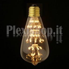 Lampadina Edison LED 3W - Retrò 64mm
