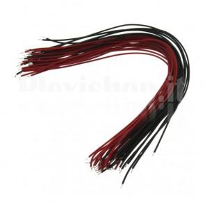40 cavetti per cablaggi rossi e neri, lunghezza 15cm