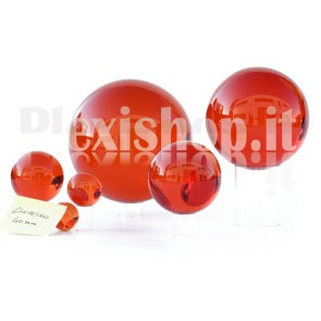 Sfera in Plexiglass Rosso da 40mm