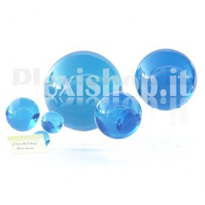 Sfera in Plexiglass Azzurro da 40mm