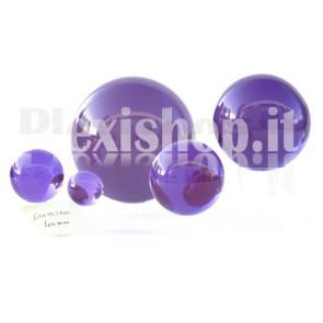 Sfera in Plexiglass Viola da 40mm