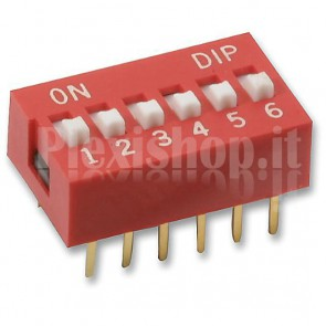 SW12DIP DIP Switch con 6 interruttori indipendenti