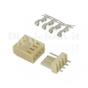 50 Connettori PCB 4 vie 2,54mm