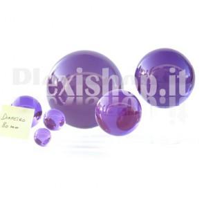 Sfera in Plexiglass Viola da 80mm