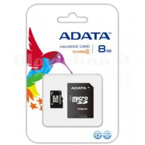 Memoria MicroSDHC da 8 GB con adattatore