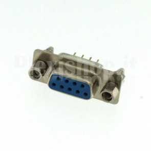 Connettore DP9 dritto da circuito stampato, femmina