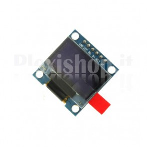 """Display OLED LCD Blu 0.96"""" SPI 6pin"""