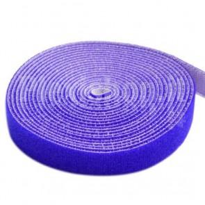 Rotolo di Velcro Fermacavi Lunghezza 25 m Larghezza 16 mm Blu
