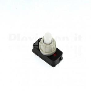Interruttore a pulsante plastico bianco
