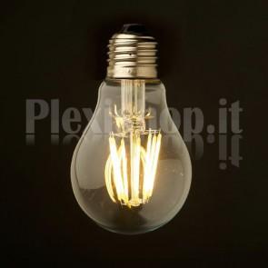 Lampadina Edison filamento LED 8W - Goccia 55mm