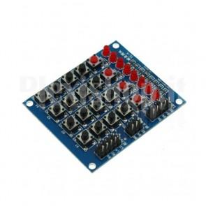 Matrice tasti 4x4 con 8 led