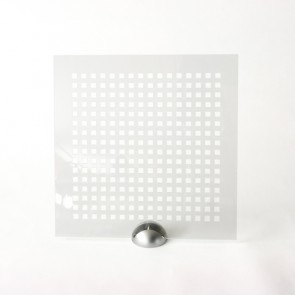 Plexiglass Preforato Trasparente - Square 10