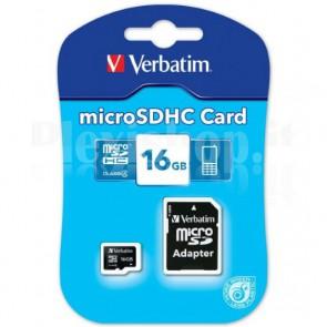 Memoria MicroSDHC da 16 GB, Classe 4 con Adattatore, 43968