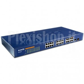 Switch 24 Porte Gigabit + 2 Mini GBIC Gestito L2 Blu TEG1224T