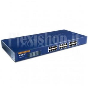 Switch 24 Porte Gigabit Installabile a Rack Blu TEG1024G