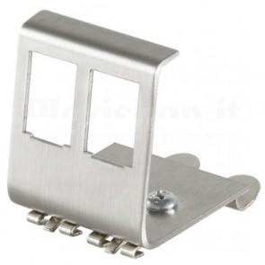 Adattatore in Metallo per 2 Moduli Keystone RJ45