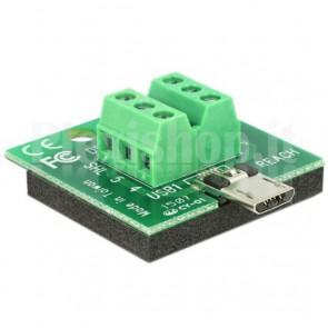 Adattatore Micro USB Maschio Terminal Block 6 pin