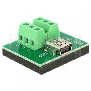 Adattatore Mini USB Femmina Terminal Block 6 pin