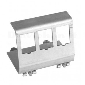 Adattatore per 3 moduli Keystone su barra DIN