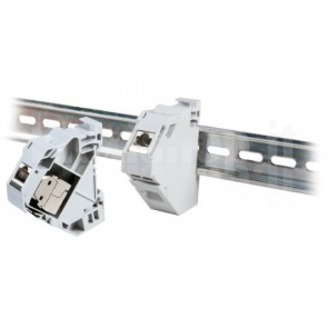 Adattatore su barra DIN per moduli RJ45 Keystone