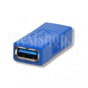 Adattatore USB 3.0 A Femmina / A Femmina Blu