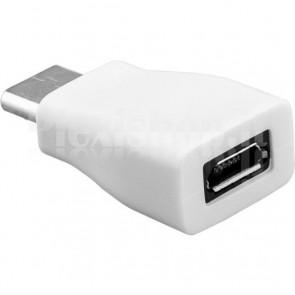 Adattatore USB-C M a Micro USB F Bianco