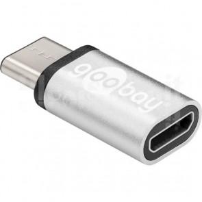 Adattatore USB-C M a Micro USB F Silver