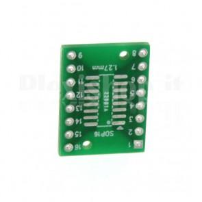 Adattatore da SMT a DIP per integrati a 16pins SOP16 / SSOP16 / TSSOP16