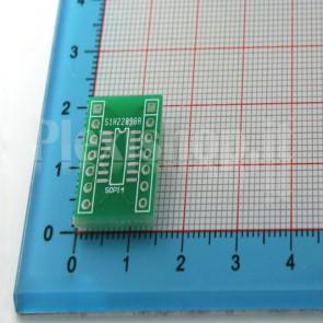 Adattatore da SMT a DIP per integrati a 14pins SOP14 / SSOP14 / TSSOP14